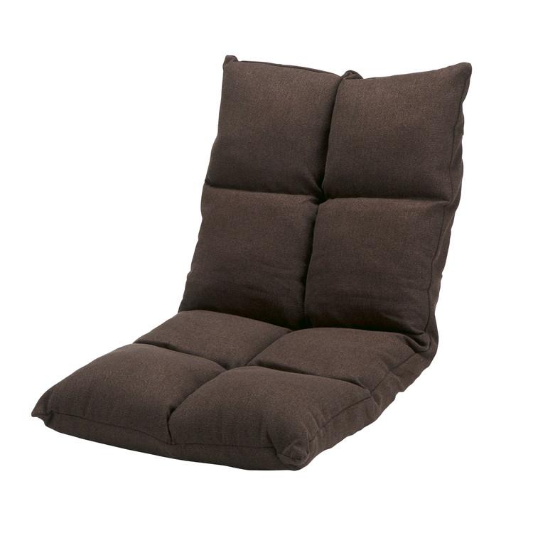 高反発リクライニング座椅子 ブラウン
