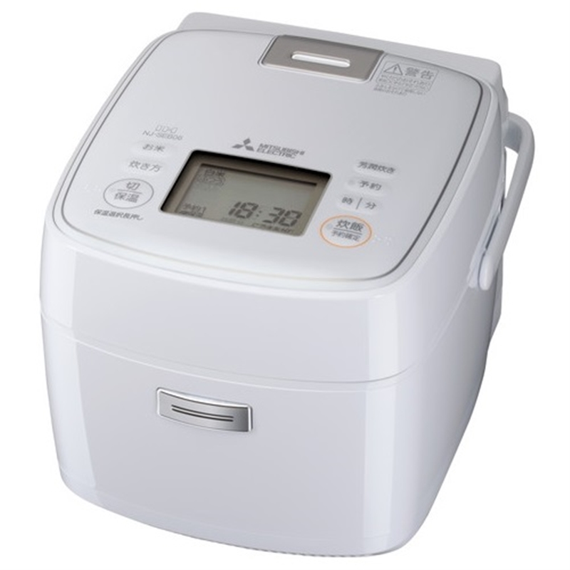 【三菱電機】IHジャー炊飯器 3.5合炊き 炭炊釜(2層厚釜) 月白(げっぱく)NJ-SEB06-W