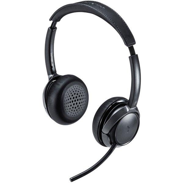 【サンワサプライ】MM-BTSH55BK Bluetoothヘッドセット 両耳タイプ・ノイズキャンセリング機能付き