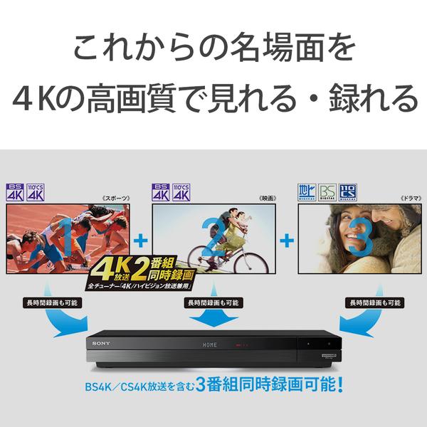 【ソニー】BDZ-FBT4100 ブルーレイディスクレコーダー トリプルチューナー 4TB 4K放送2番組同時録画対応
