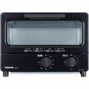 【東芝】オーブントースター ブラックHTR-P3(K)