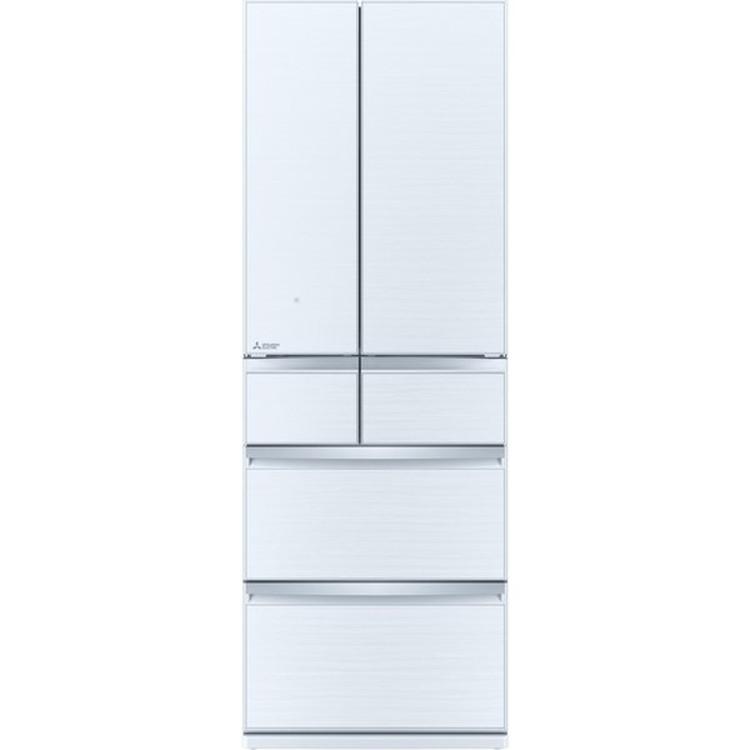 【標準設置対応付】三菱電機 MR-WX52G-W 冷蔵庫(517L・フレンチドア) 6ドア クリスタルホワイト