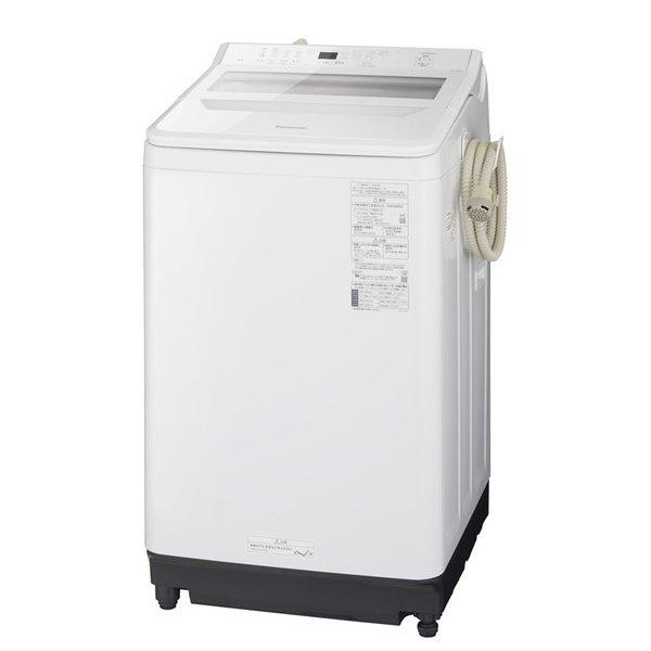 【標準設置対応付】パナソニック NA-FA80H9-W 全自動洗濯機 8Kg ホワイト