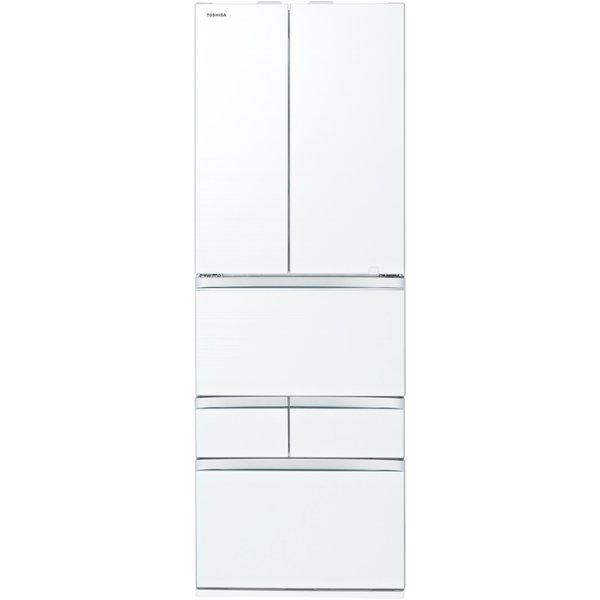 【標準設置対応付】東芝  冷蔵庫(508L・フレンチ) 6ドア VEGETA クリアグレインホワイト GR-T510FZ(UW)
