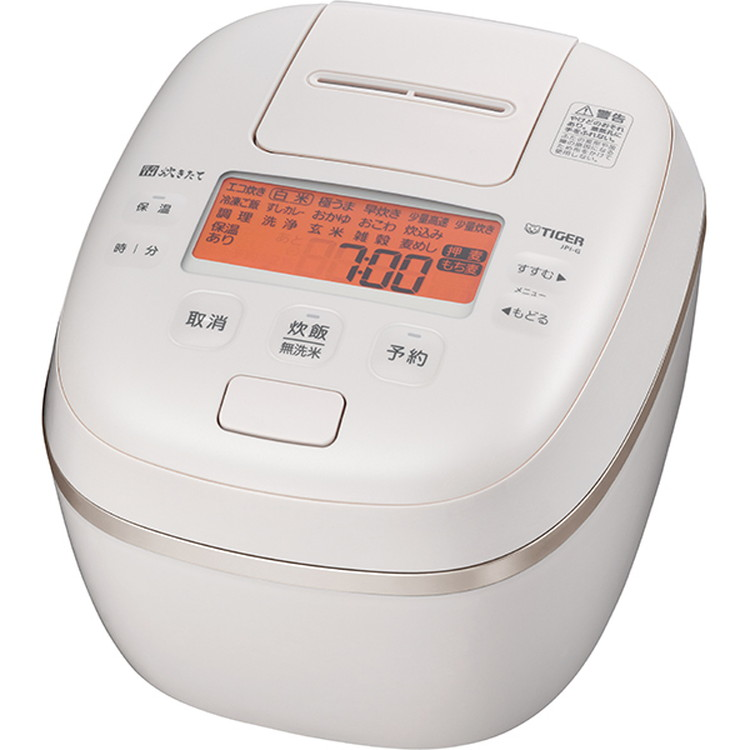 【タイガー】 JPI-G100 WE 圧力IHジャー炊飯器 炊きたて ほうびだき 5.5合炊き エクリュホワイト
