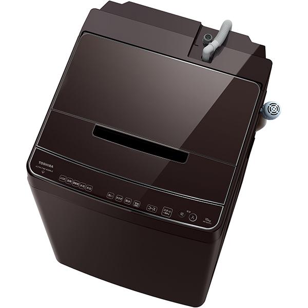 【標準設置対応付】東芝 全自動洗濯機 ZABOON(ザブーン) ウルトラファインバブル洗浄W 10kg グレインブラウン