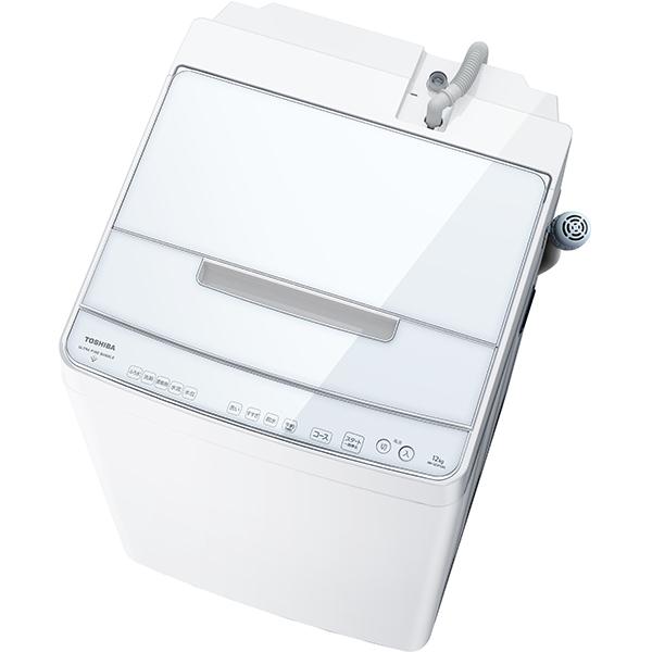 【標準設置対応付】東芝 全自動洗濯機 ZABOON(ザブーン) ウルトラファインバブル洗浄W 12kg グランホワイト