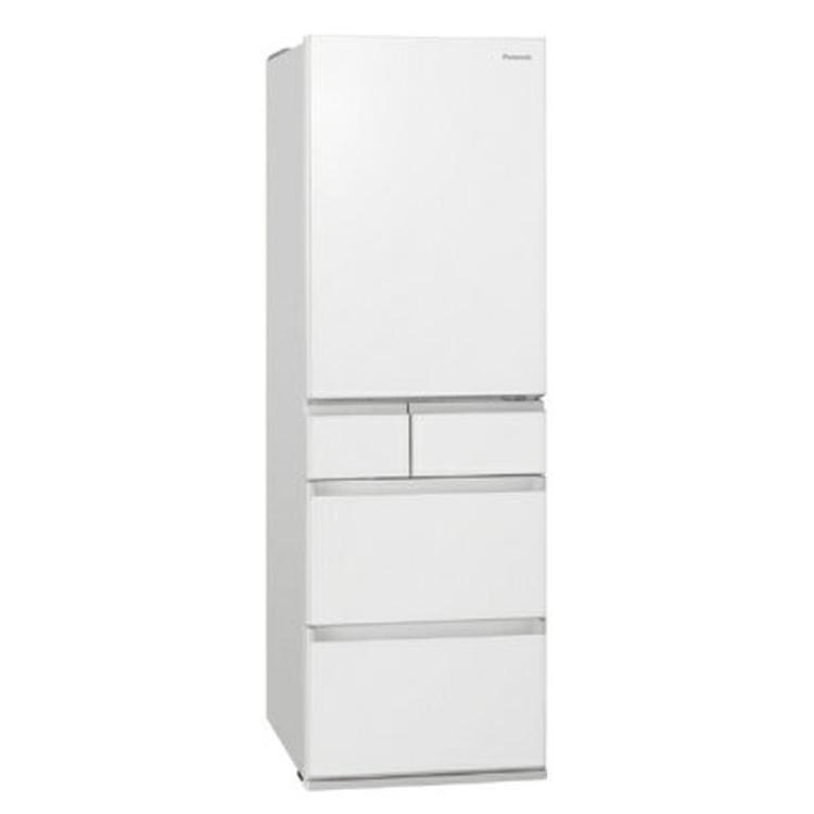 【標準設置対応付】パナソニック NR-E457PX-W パーシャル搭載 冷蔵庫450L・右開き 5ドア スノーホワイト