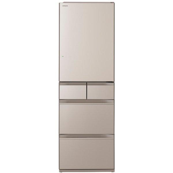 【標準設置対応付】日立 R-HWS47R-XN 冷蔵庫(470L・右開き) 5ドア クリスタルシャンパン