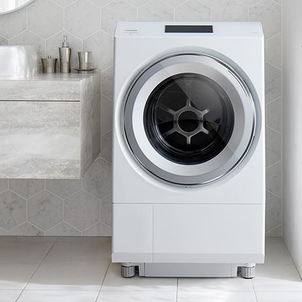 【標準設置対応付】東芝 TW-127XP1L-W ドラム式 ZABOON  洗濯12kg/乾燥7kg 左開き グランホワイト