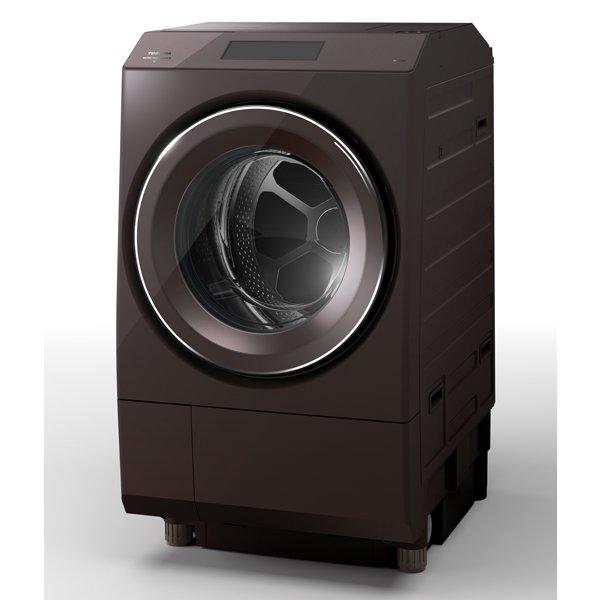【標準設置対応付】東芝 TW-127XP1L-T ドラム式 ZABOON  洗濯12kg/乾燥7kg 左開き ボルドーブラウン